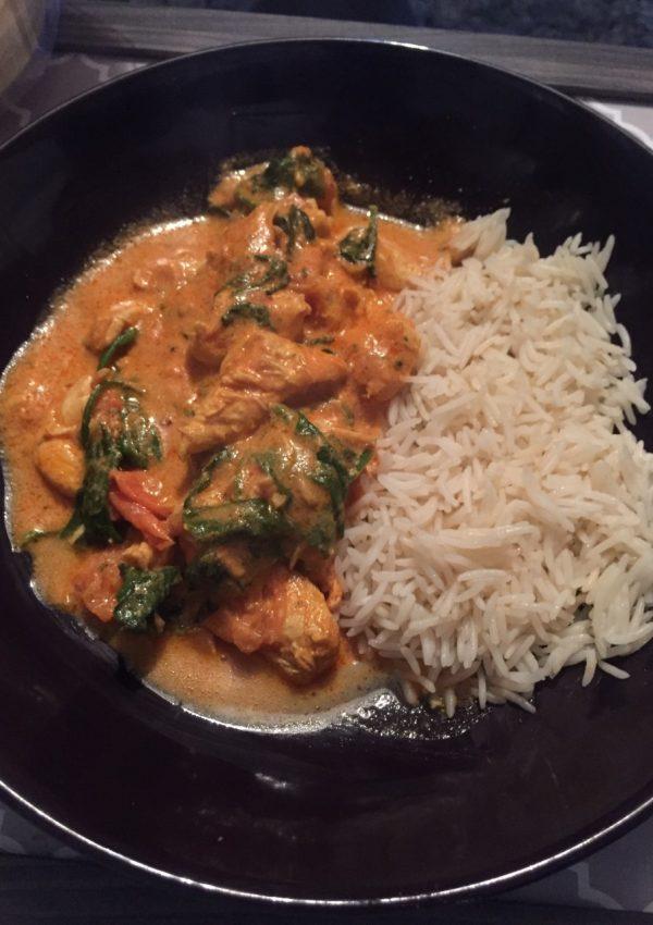 Chicken & Spinach Balti