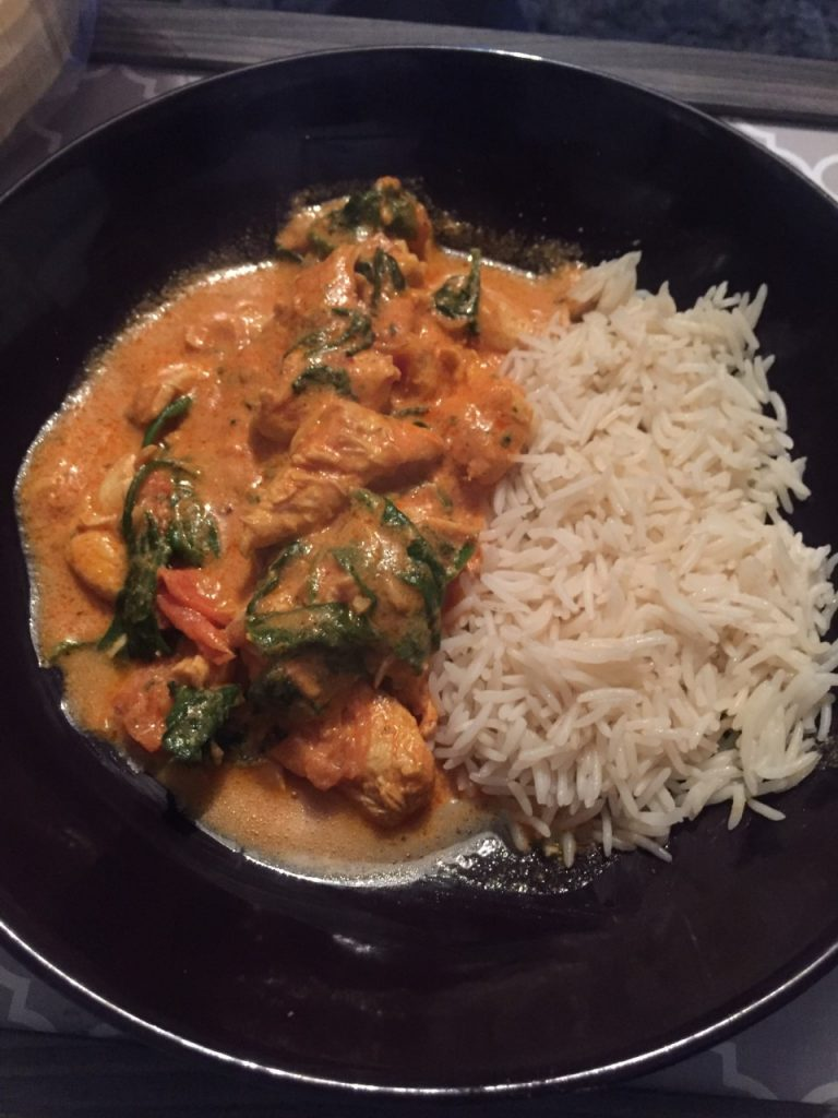 Chicken & Spinach Balti