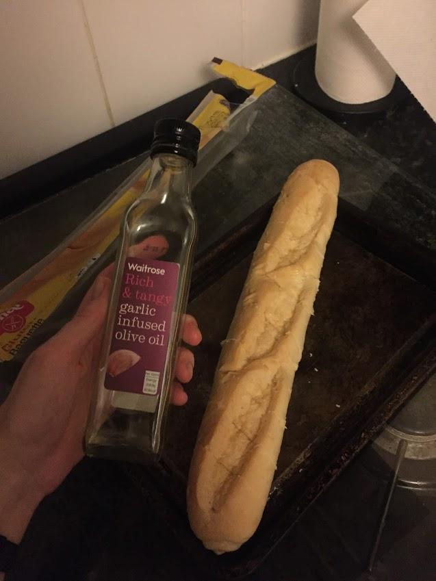 FODMAP fav garlic baguette