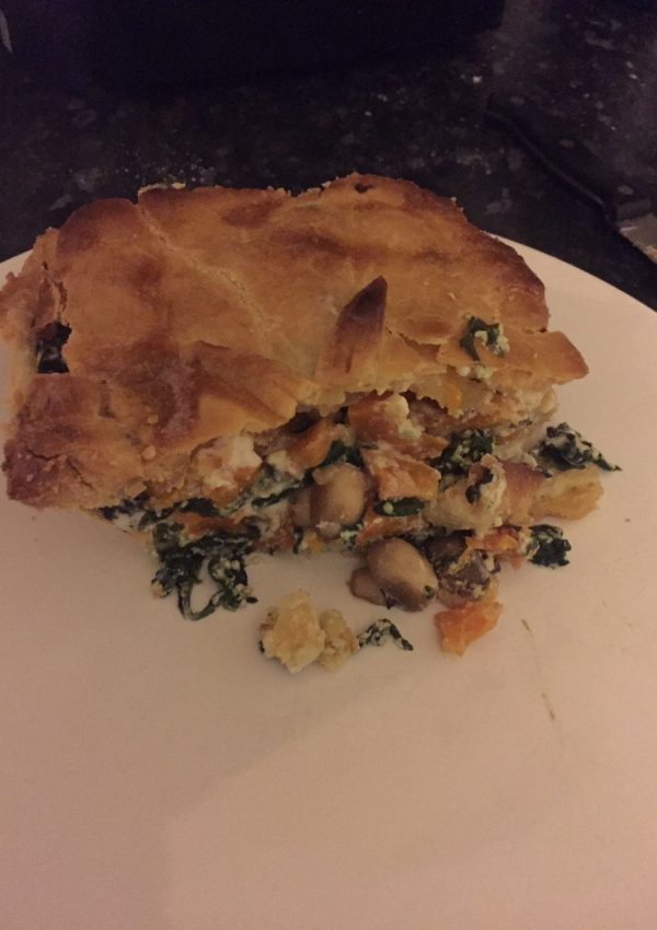Squash, Spinach & Goat's Cheese Pie