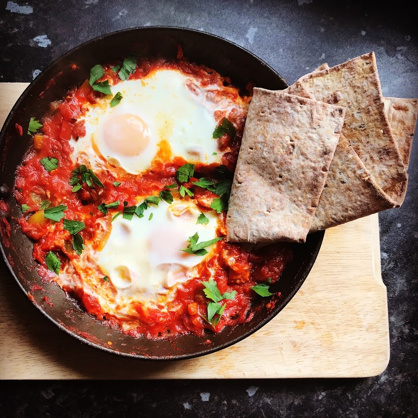 Breakfast eggs (Shakshuka)