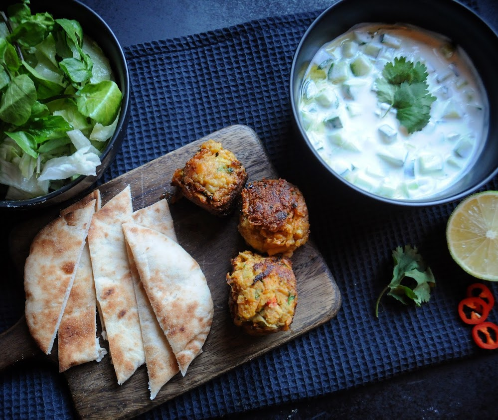 Carrot Falafel with a Greek Dip