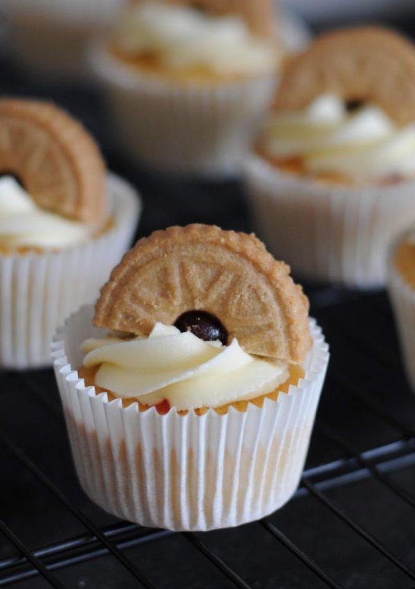 Gluten Free Jammy Dodger Cupcakes