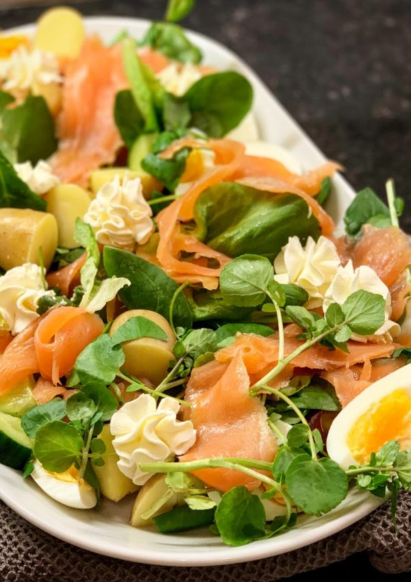 Low FODMAP Smoked Fish Salads