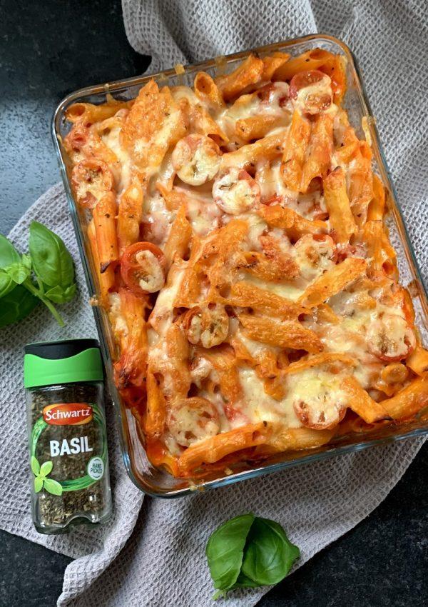 Creamy Tomato & Basil Pasta Bake