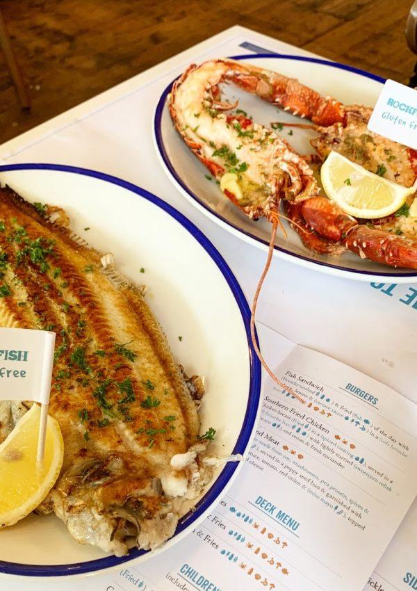 Dinner at Rockfish, Weymouth
